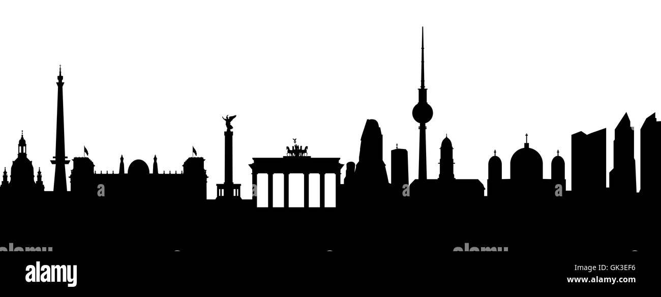 Berlin-abstrakt Stockbild