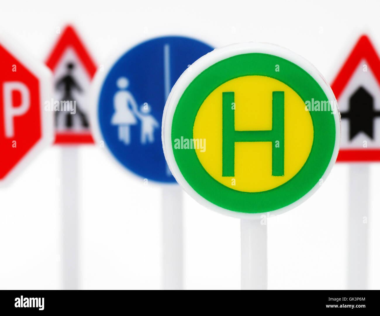 Stop & Verkehr Schilder Stockbild