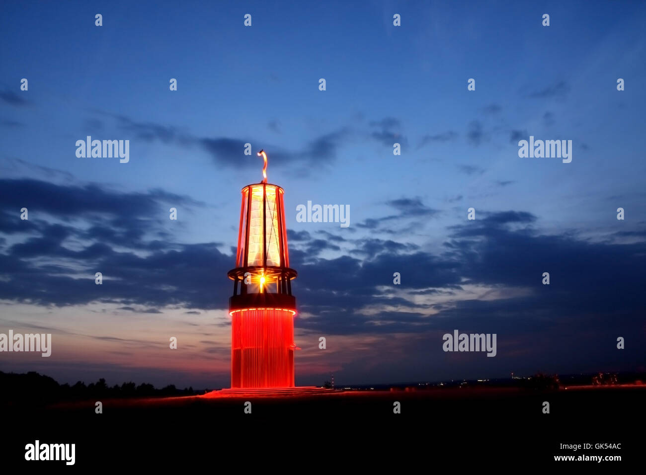 Emblem Sicherheitsleuchte Leuchtturm Stockbild