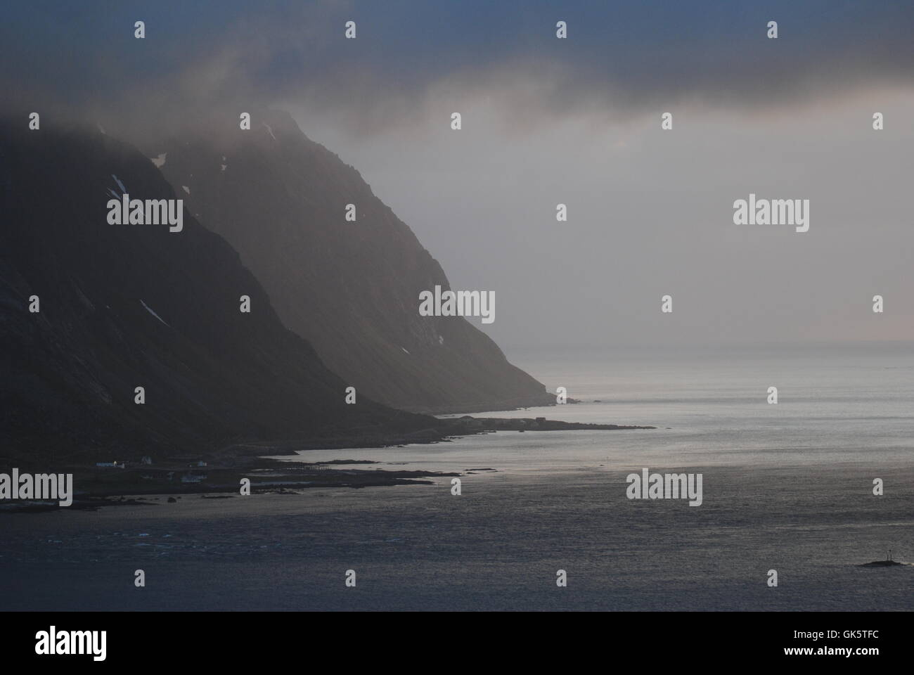 Lofotlys Stockbild