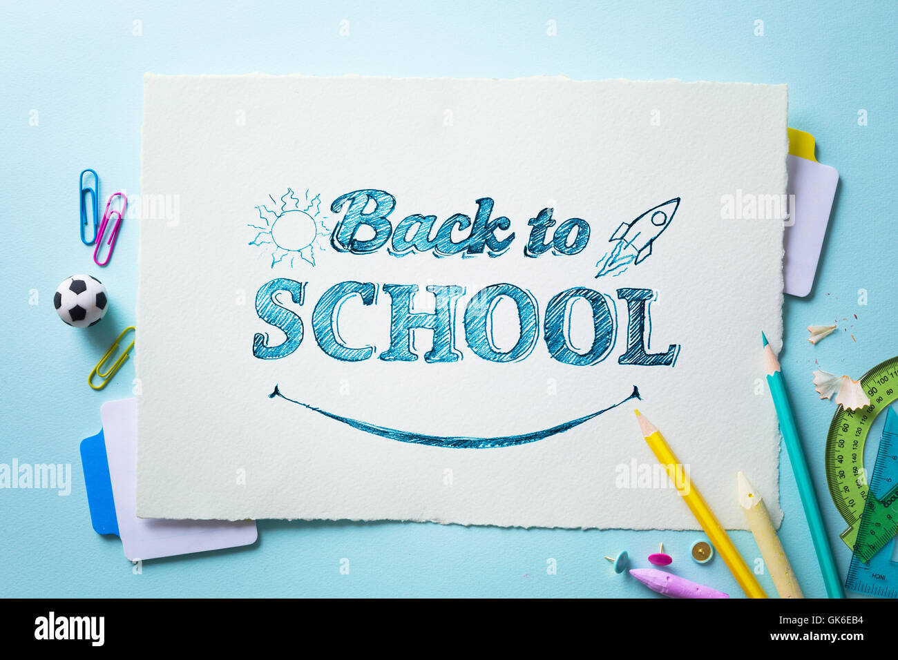 Kunst Willkommen zurück zu Schule Banner; Schule ...