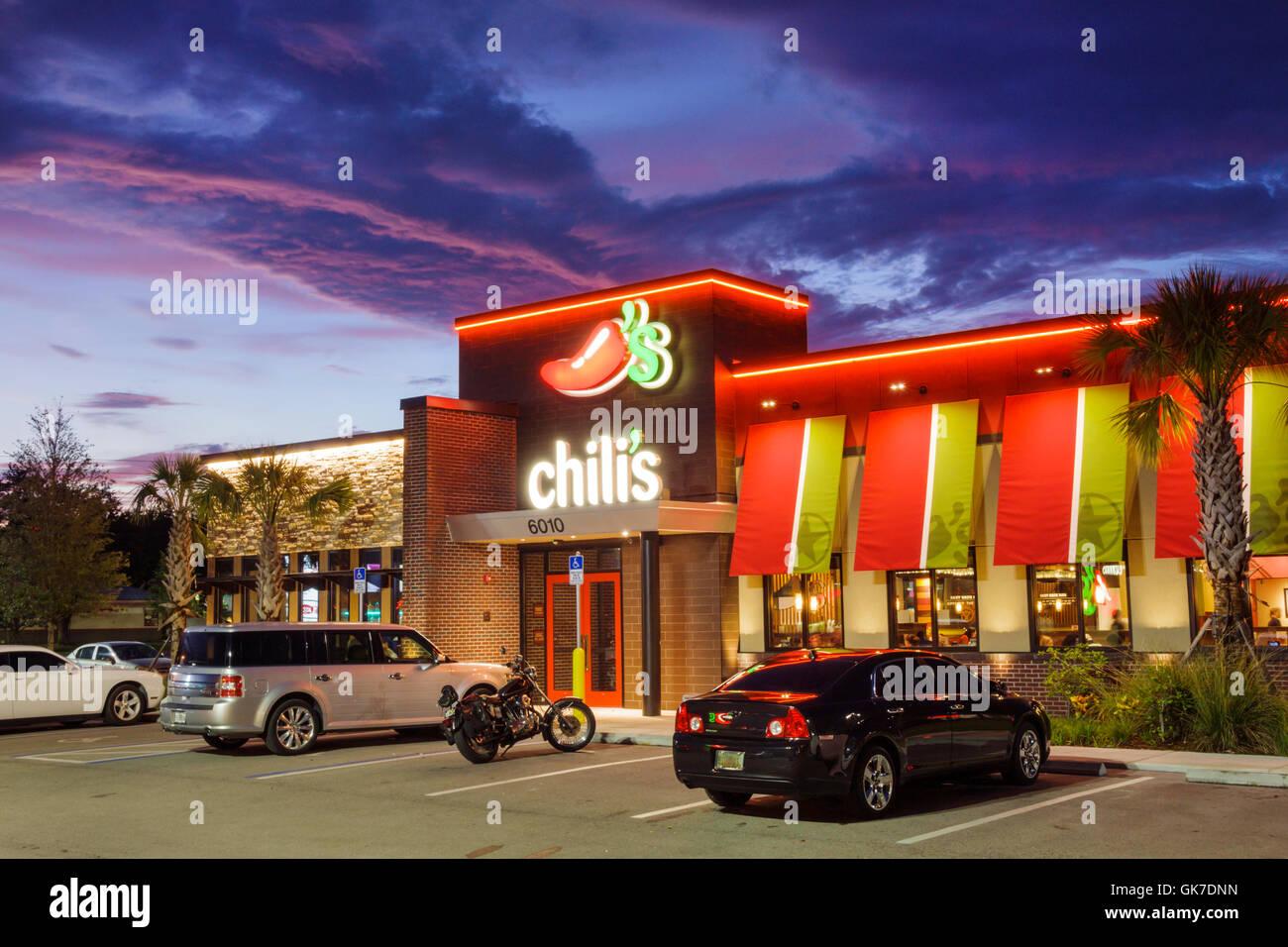 Florida Ellenton Chili-Restaurant-Kette franchise Geschäft lässig Restaurants Gebäude außen Stockbild