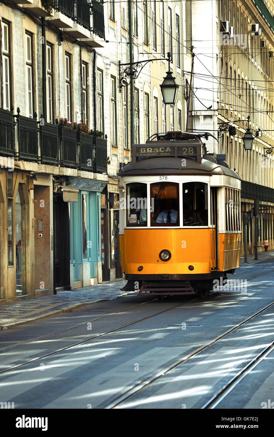 Reisen Leben Stadtverkehr Stockbild