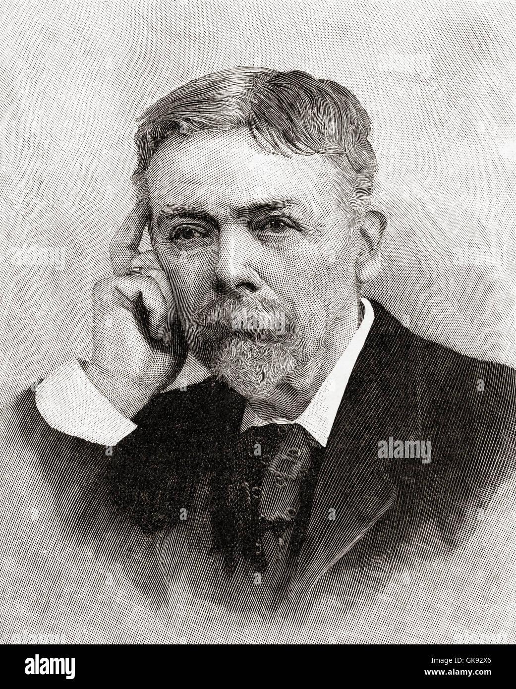 George Louis PAL-Busson du Maurier, 1834 ? 1896.  Französisch-britischer Cartoonist und Autor. Stockbild