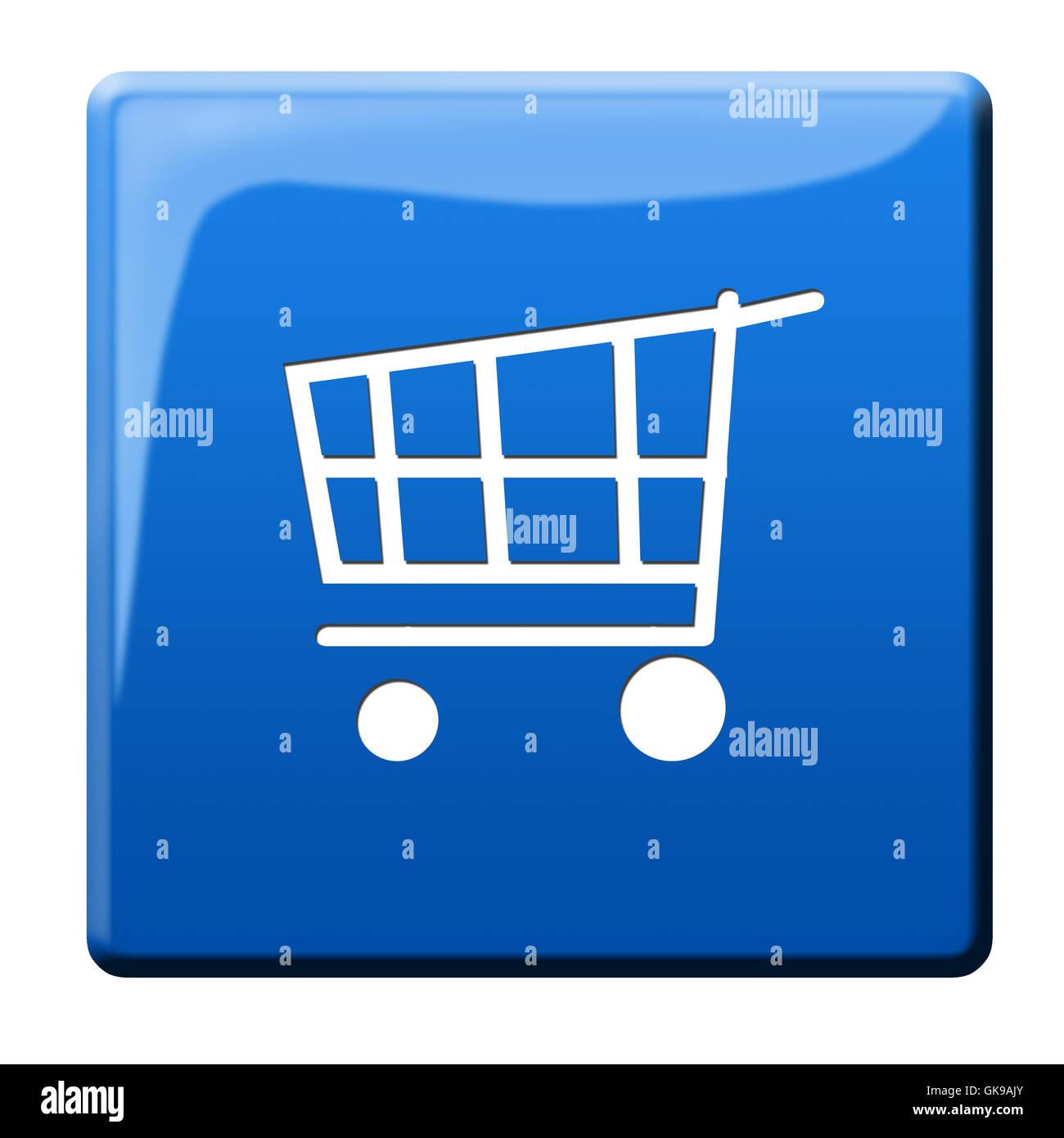 Trolley-Warenkorb-Symbolik Stockbild