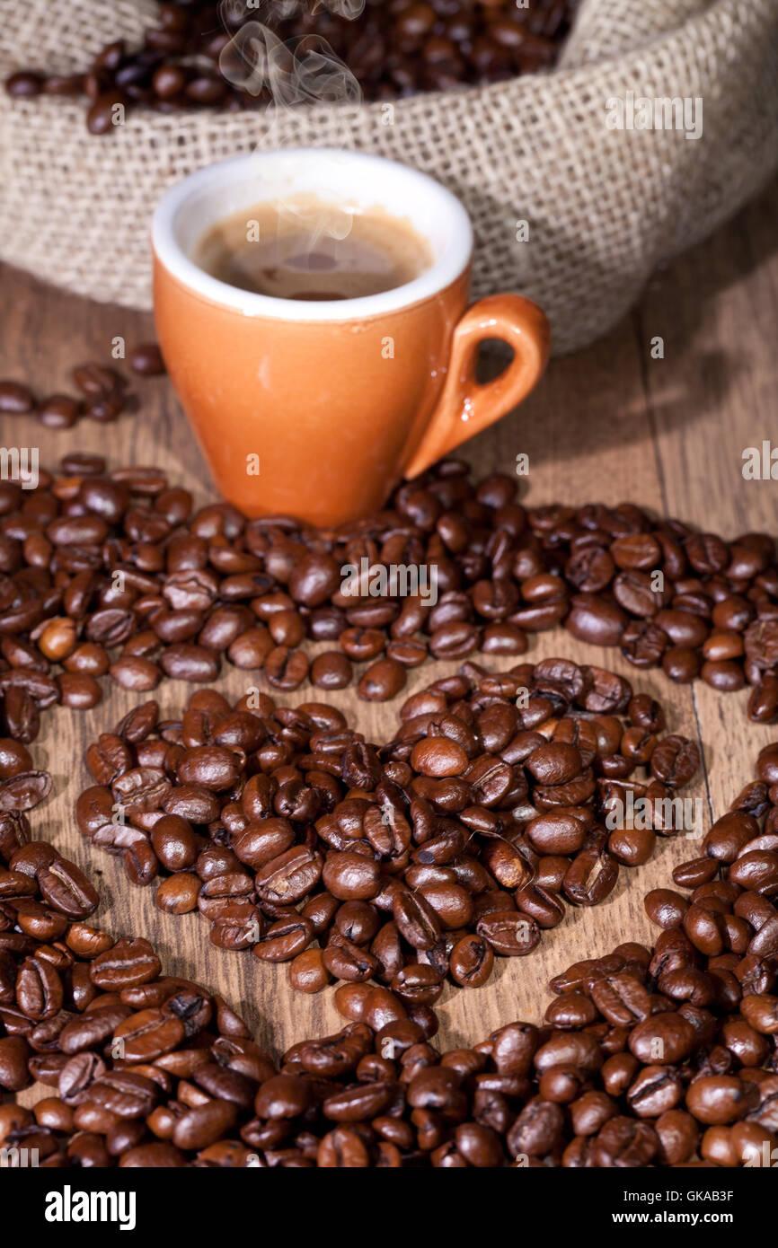 Café Espressokaffee Stockbild
