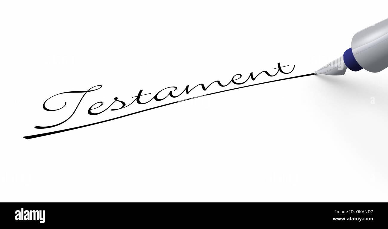 Stift-Konzept - Testament! Stockbild