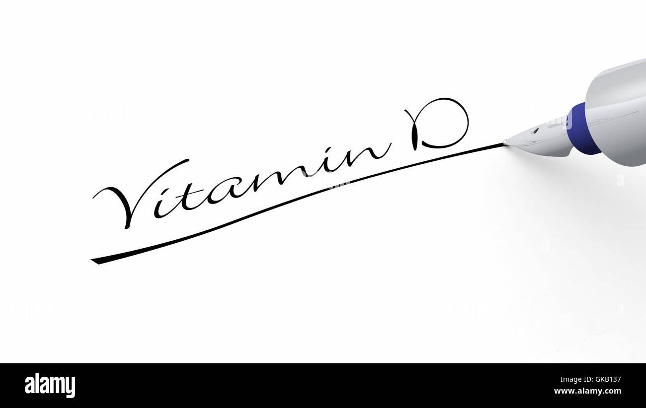 Stift-Konzept - Vitamin d Stockbild