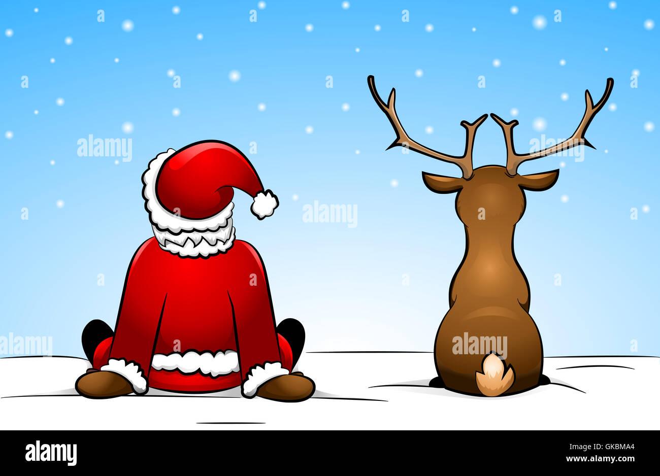 Comic Bilder Weihnachten.Comic Vater Weihnachten Nikolaus Stockfoto Bild 115198108 Alamy