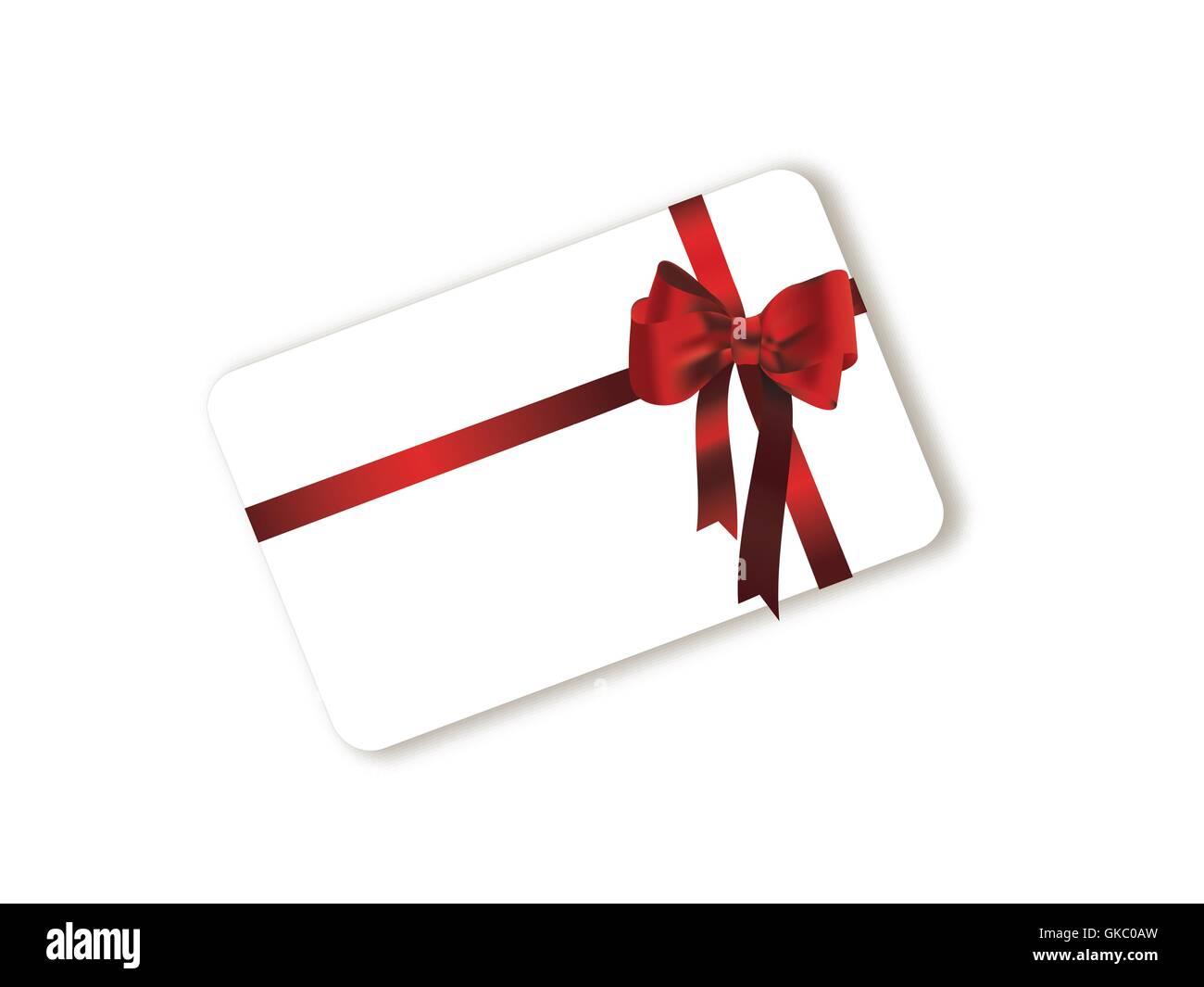 Geschenk-Karte-Schleife Stockfoto, Bild: 115204401 - Alamy