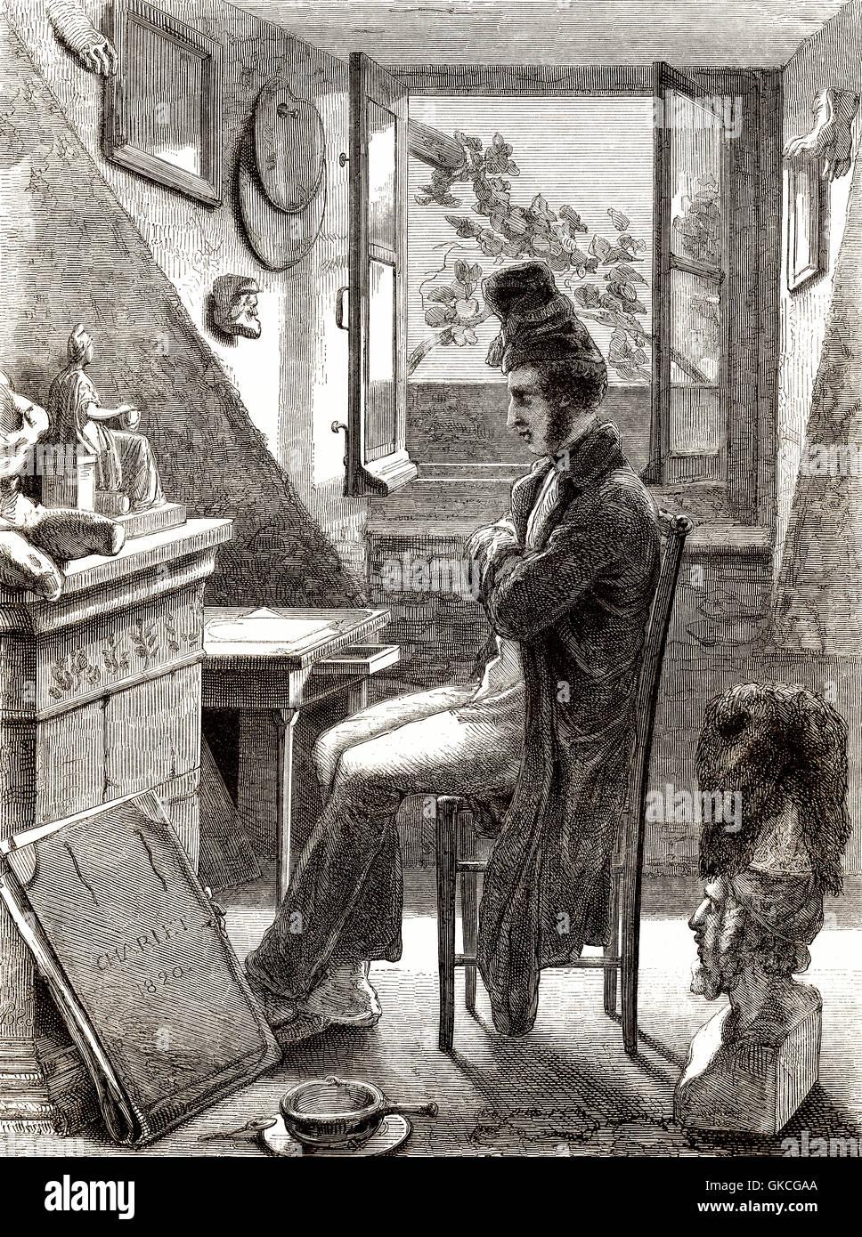 Nicolas Toussaint Charlet, 1792-1845, ein französischer Designer und Maler Stockbild
