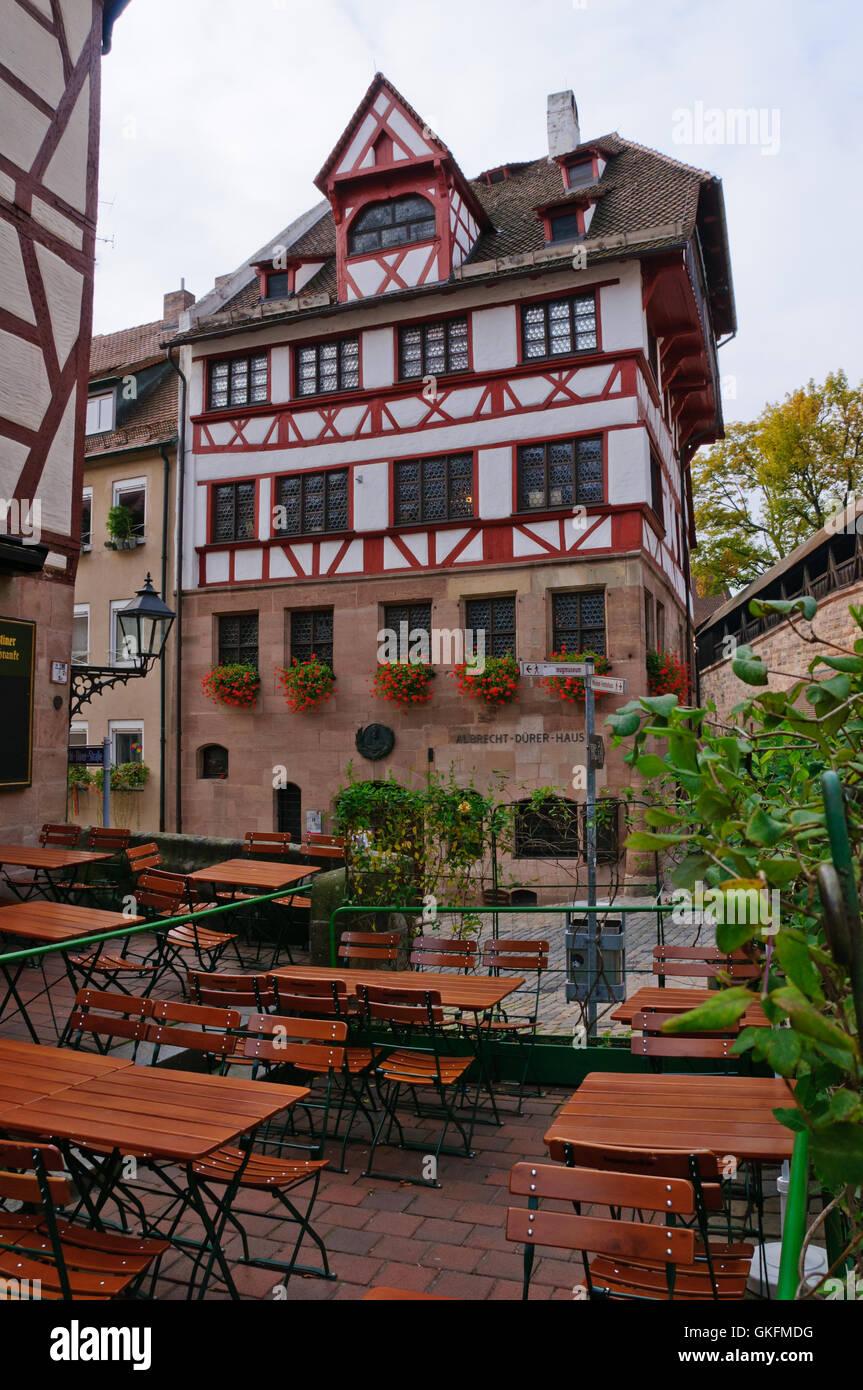 Dürer-Haus in Nürnberg, Deutschland Stockbild