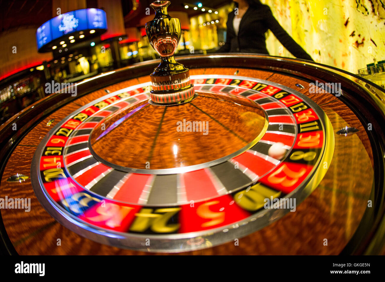 All the numbers on a roulette table add up to