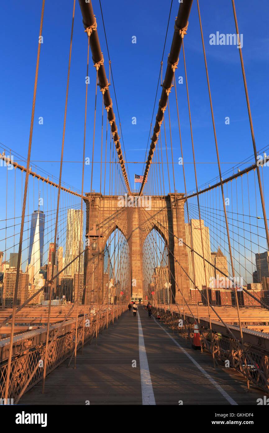 USA, New York, New York City, Brooklyn Bridge Stockbild
