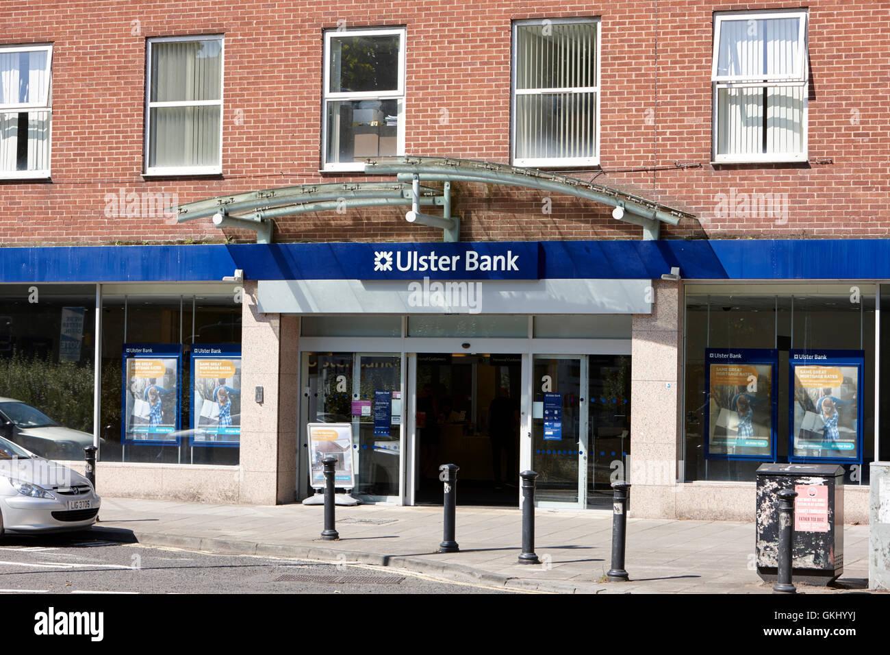 Ulster Bank Universität Zweig Nordirland Stockbild