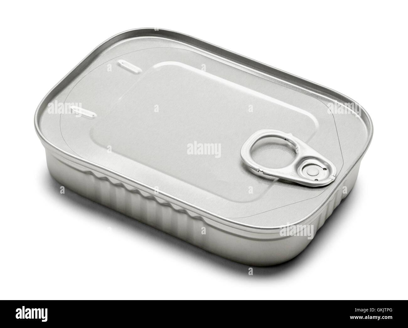 Neue Sardine kann isolierten auf weißen Hintergrund. Stockbild