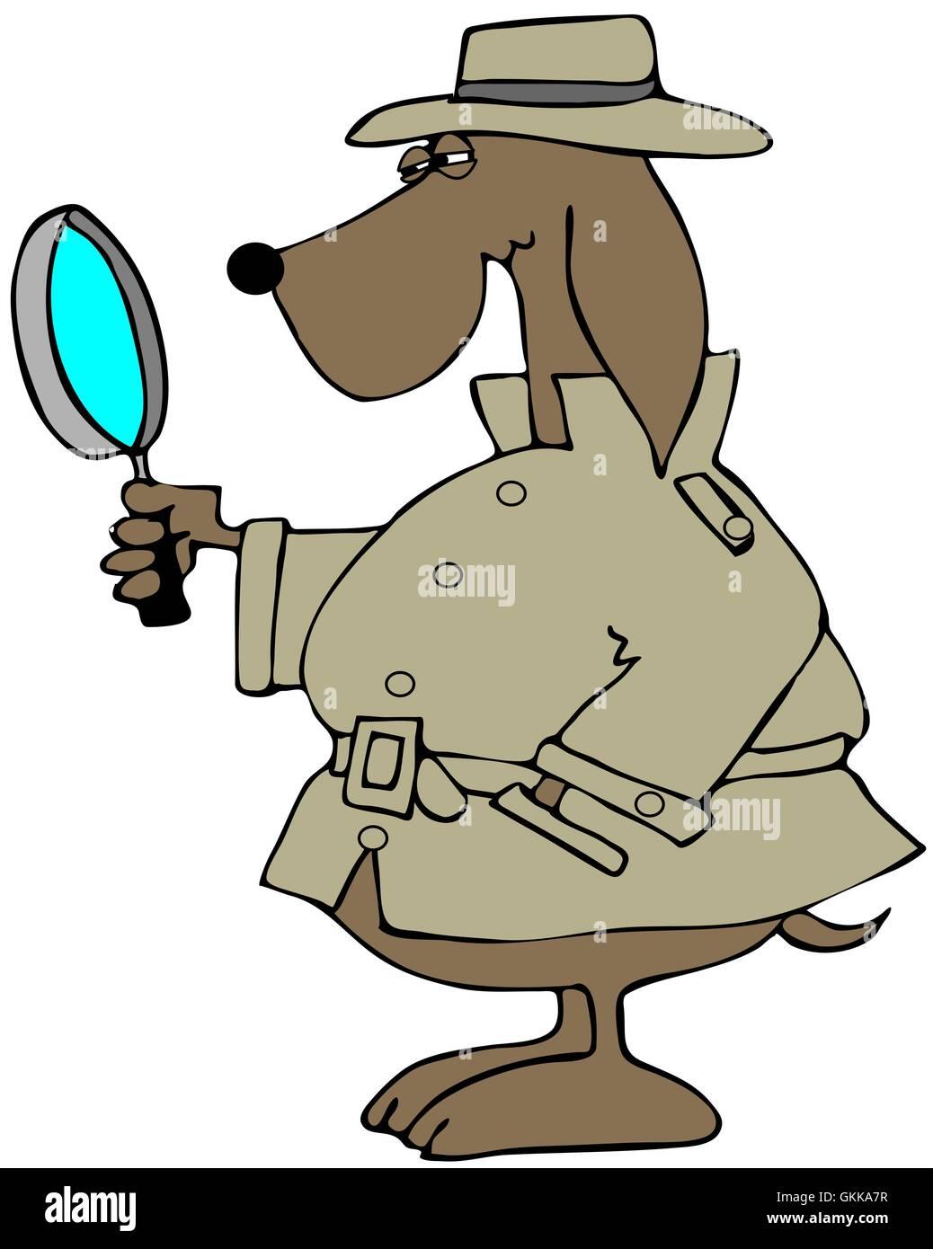 Private Ermittler Hund Stockbild