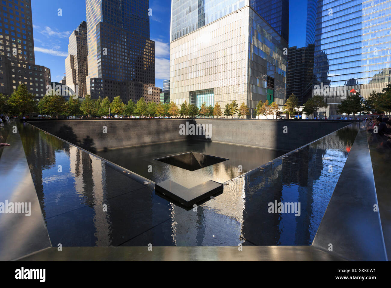 USA, New York, New York City, Manhattan, nationale Semptember 11 Memorial Stockbild