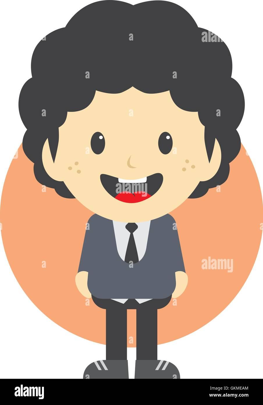 Entzückende Junge Comic Figur Vektor Abbildung Bild 115390988 Alamy