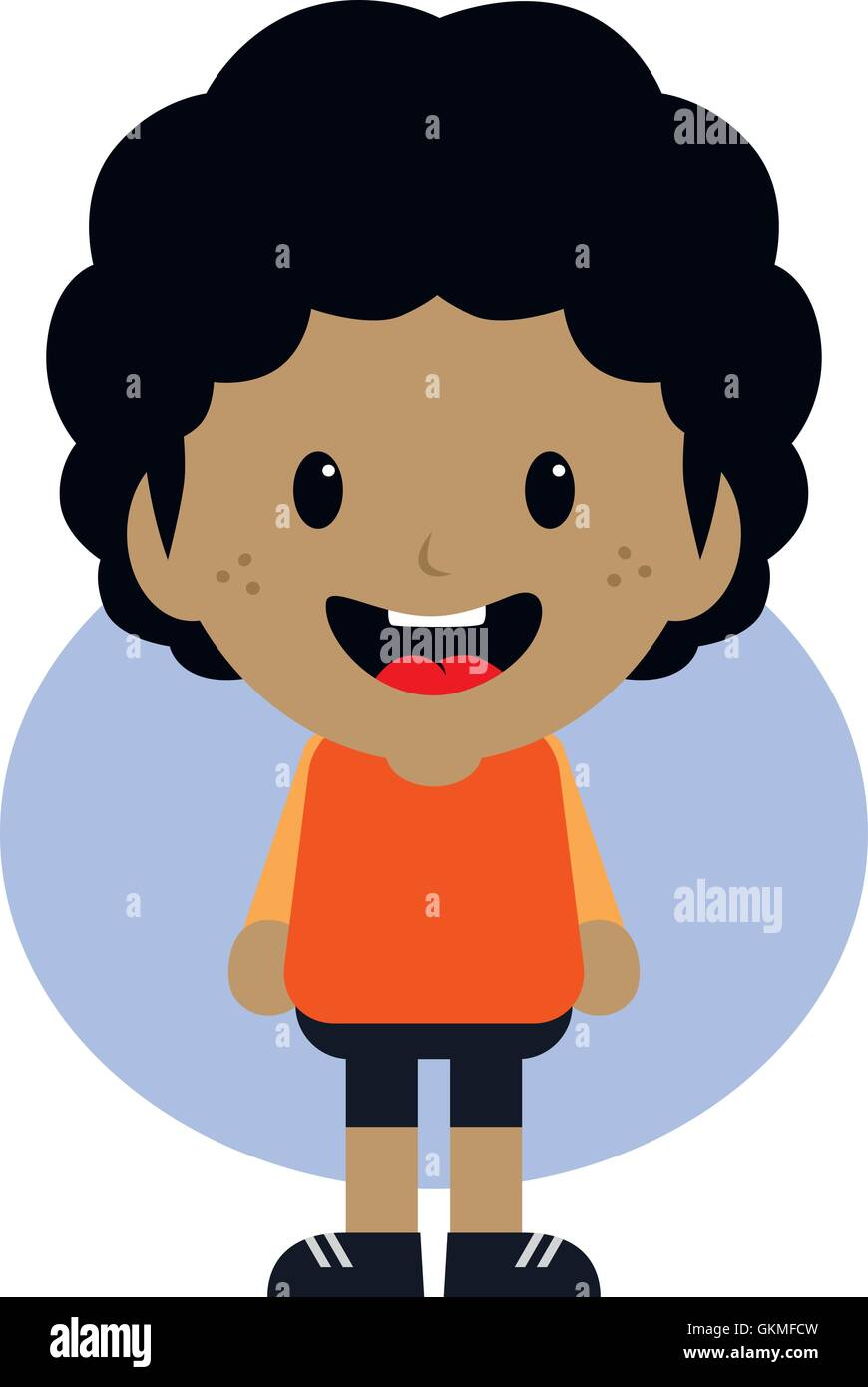 Entzückende Junge Comic Figur Vektor Abbildung Bild 115391833 Alamy