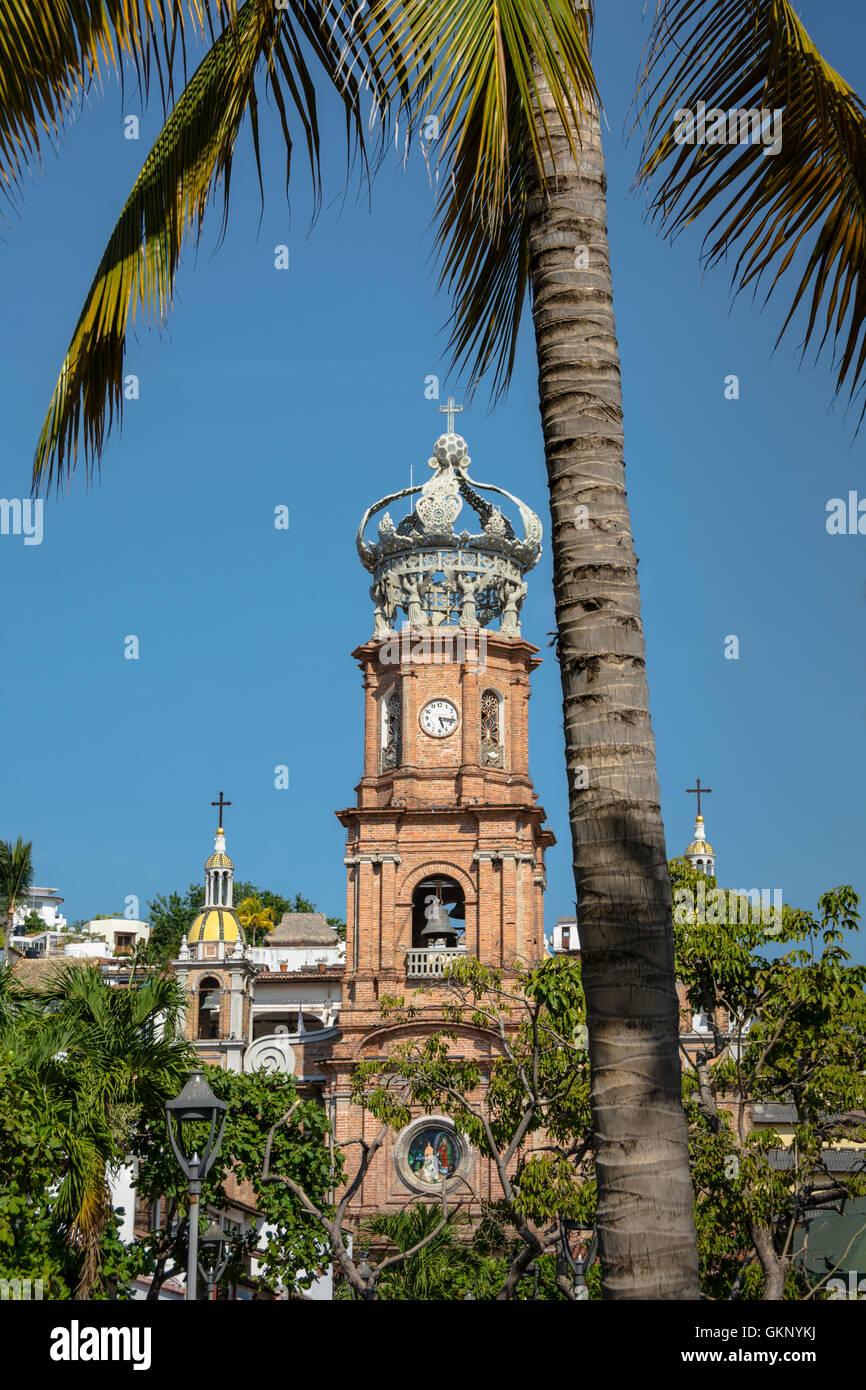 Unsere Liebe Frau von Guadalupe Church, Puerto Vallarta, Jalisco, Mexiko. Stockbild