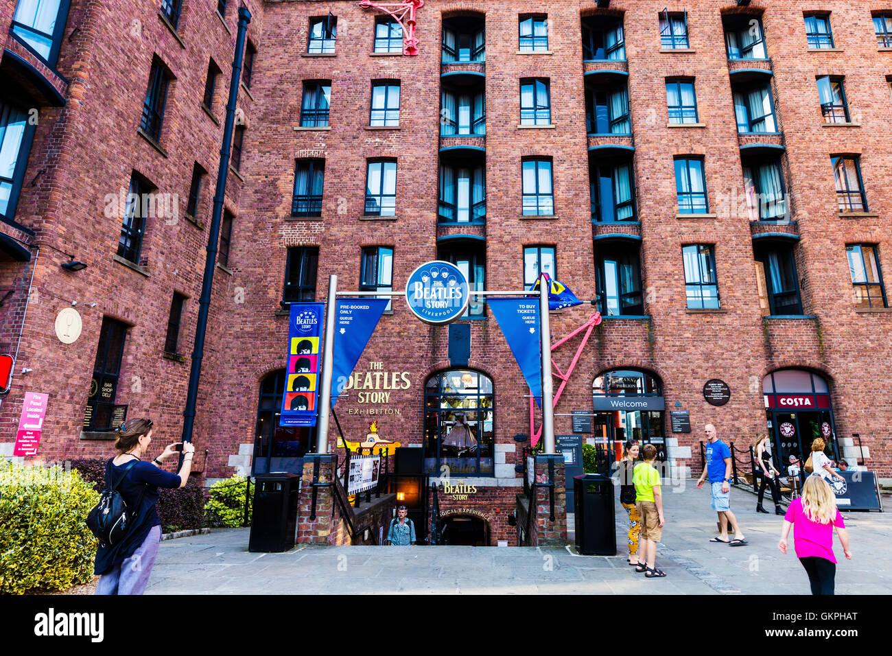 Die Beatles Story ist eine Besucherattraktion der 1960er-Jahre-Rock-Gruppe The Beatles in Liverpool gewidmet. Stockbild