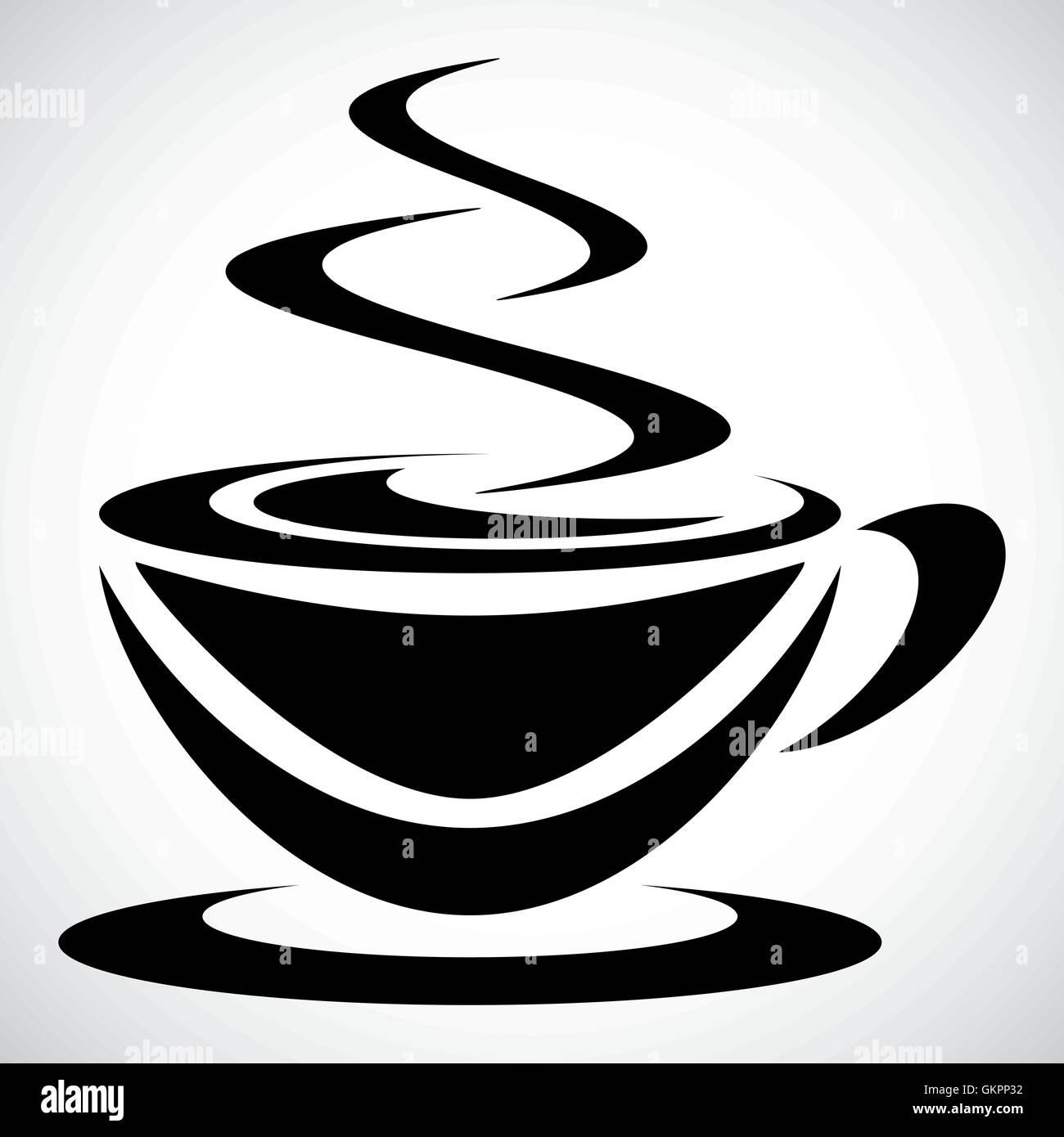 Symbol Piktogramm schwarzen Kaffee für den kreativen Einsatz in Grafik-design Stockbild
