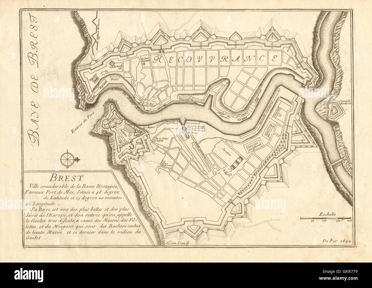 Map Brest Stockfotos & Map Brest Bilder - Seite 2 - Alamy