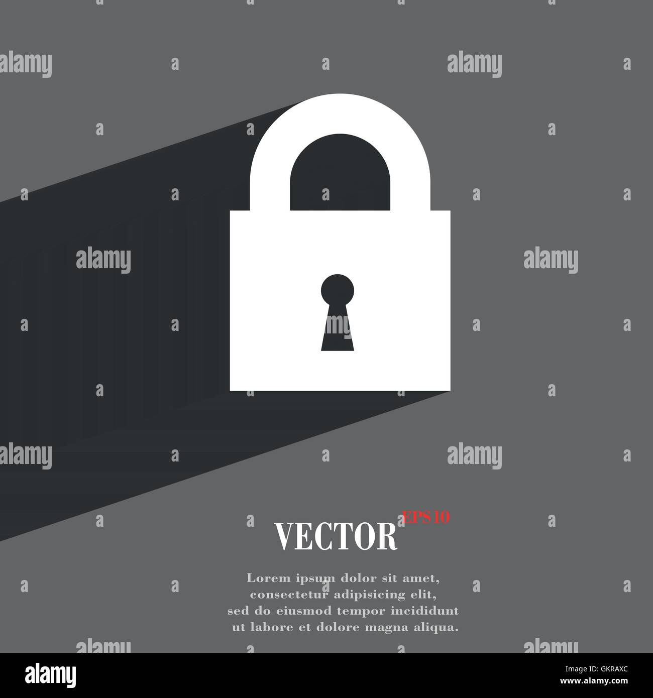 geschlossenes Vorhängeschloss-Symbol Symbol flach moderne Webdesign ...
