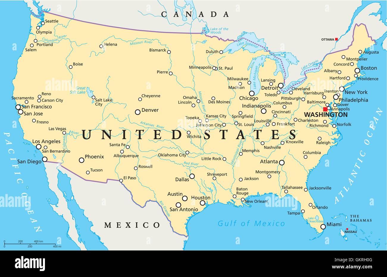Usa Amerika Staaten Vereinigten Atlas Karte Der Welt Reisen Usa