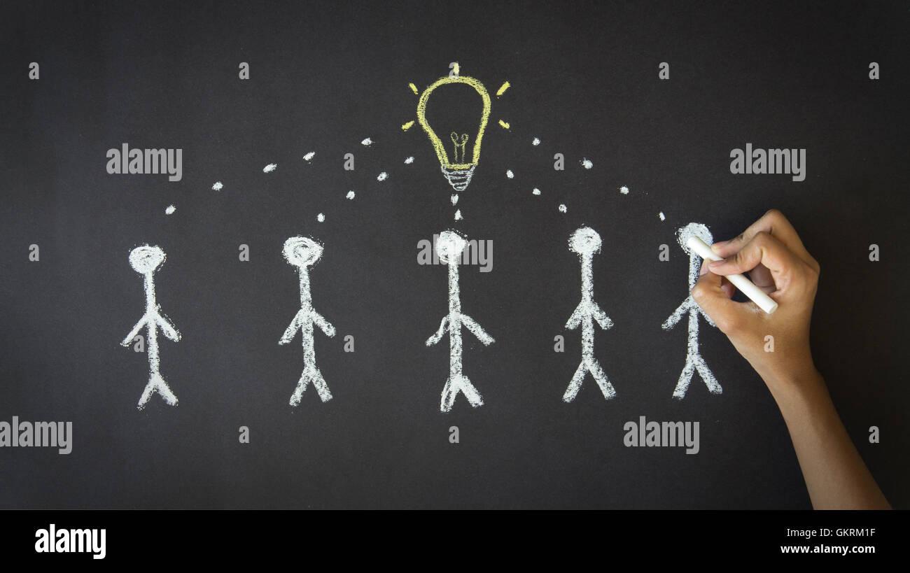 Viele Ideen Stockbild