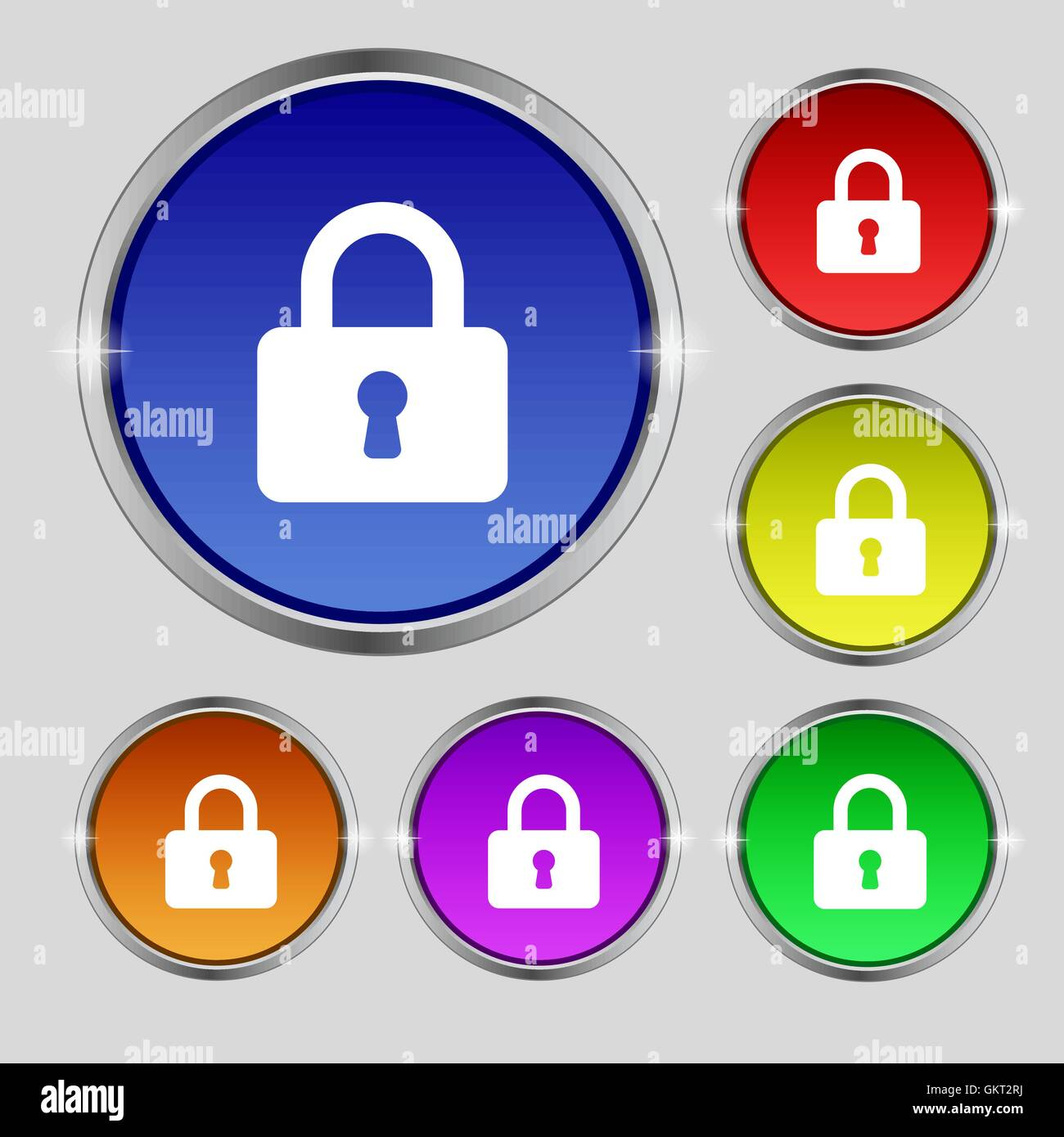 Lock Icon Sign Round Symbol Stockfotos & Lock Icon Sign Round Symbol ...
