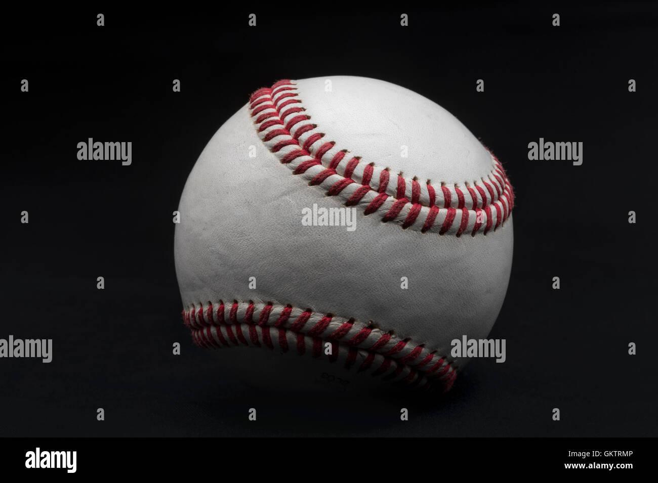 Detail der amerikanischen Baseball Ball Stockbild