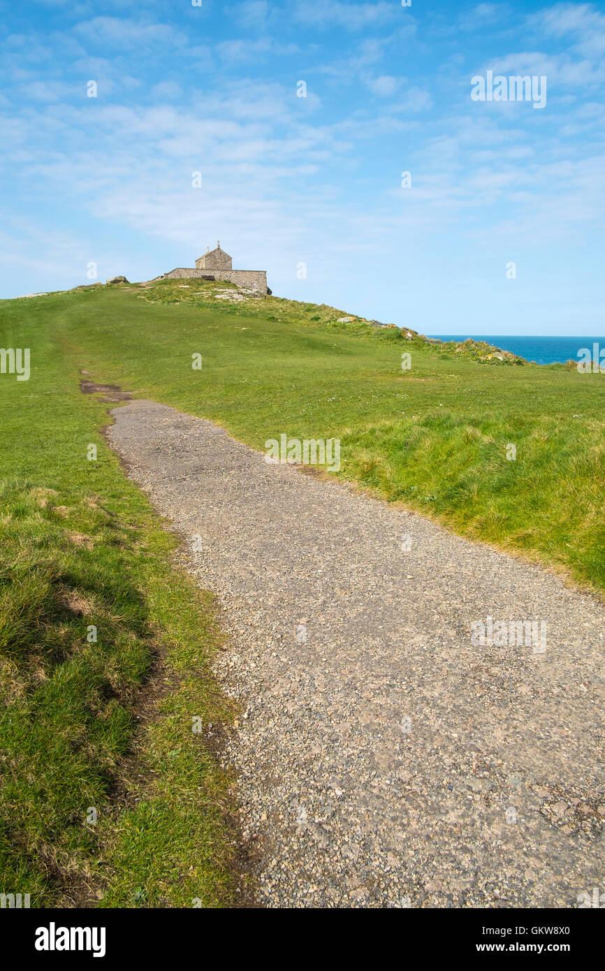 Weg zur Insel Kapelle Anzahl 3596 Stockbild
