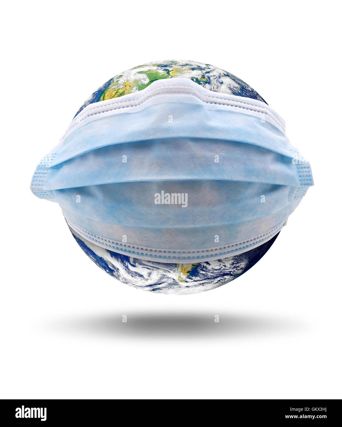 Globale Virus-Infektion.  Earth-Bild mit freundlicher Genehmigung von NASA Stockbild