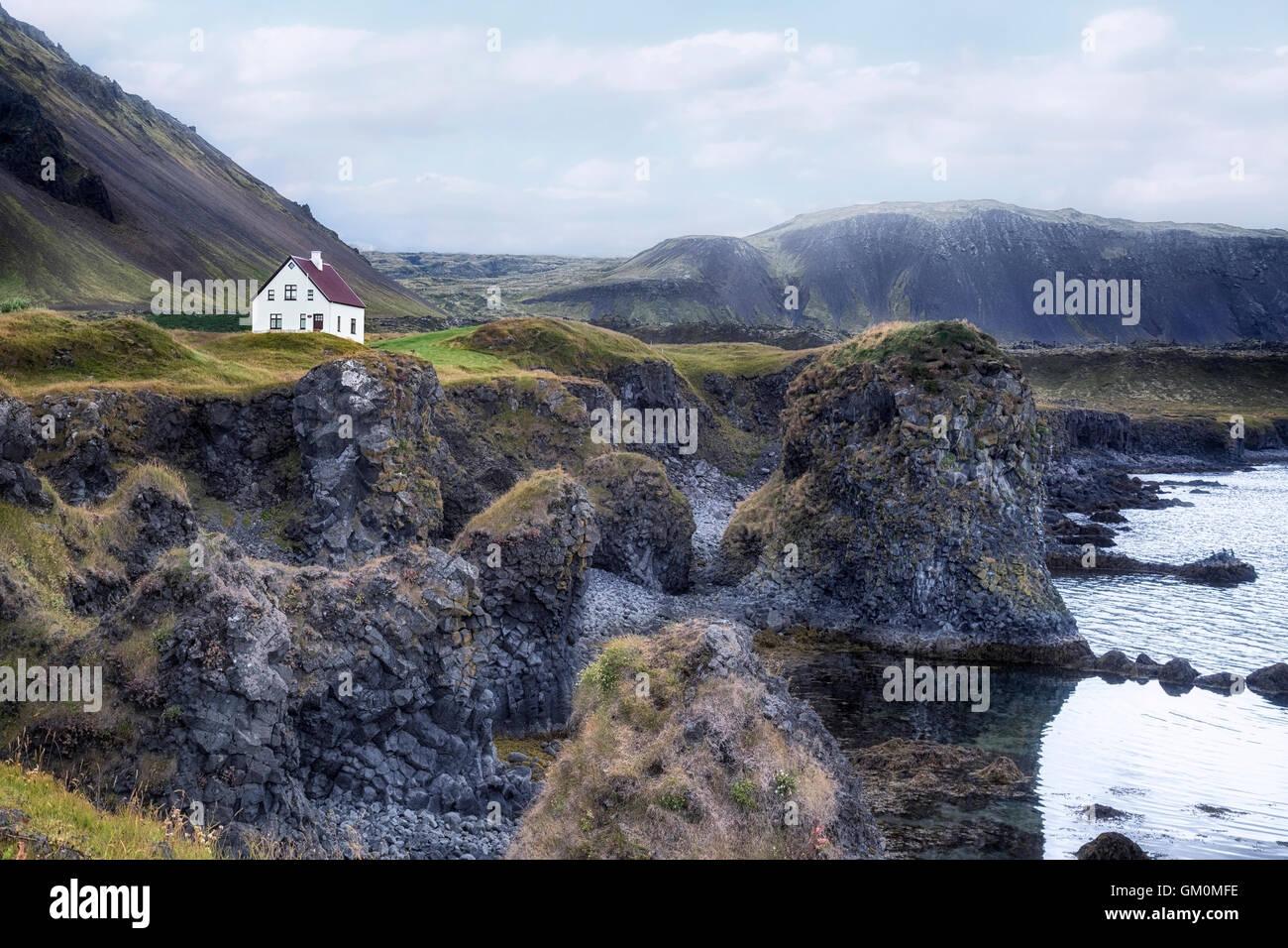 Arnastapi, Hellnar, Snaefellsnes, Island Stockbild