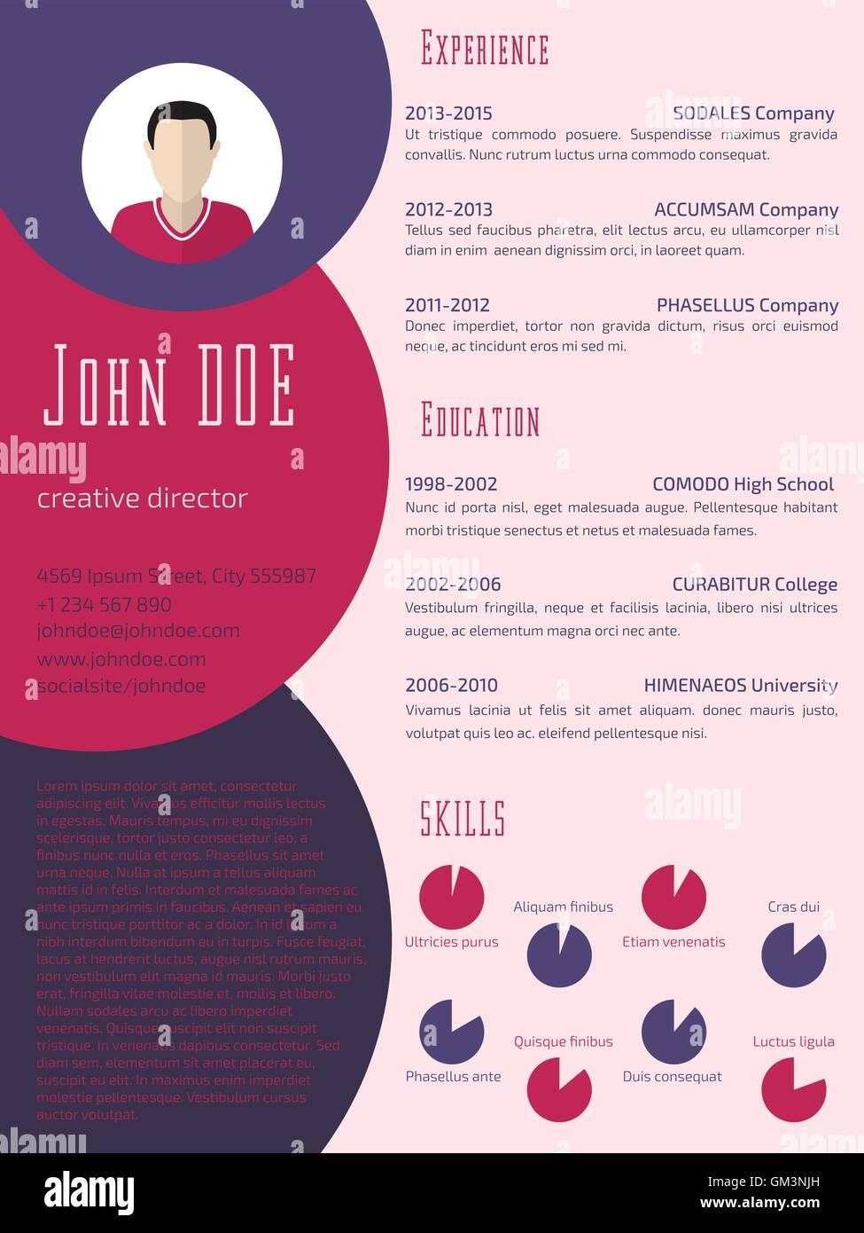 Cool Lebenslauf Lebenslauf Vorlage mit Business-Anzug-Hintergrund ...