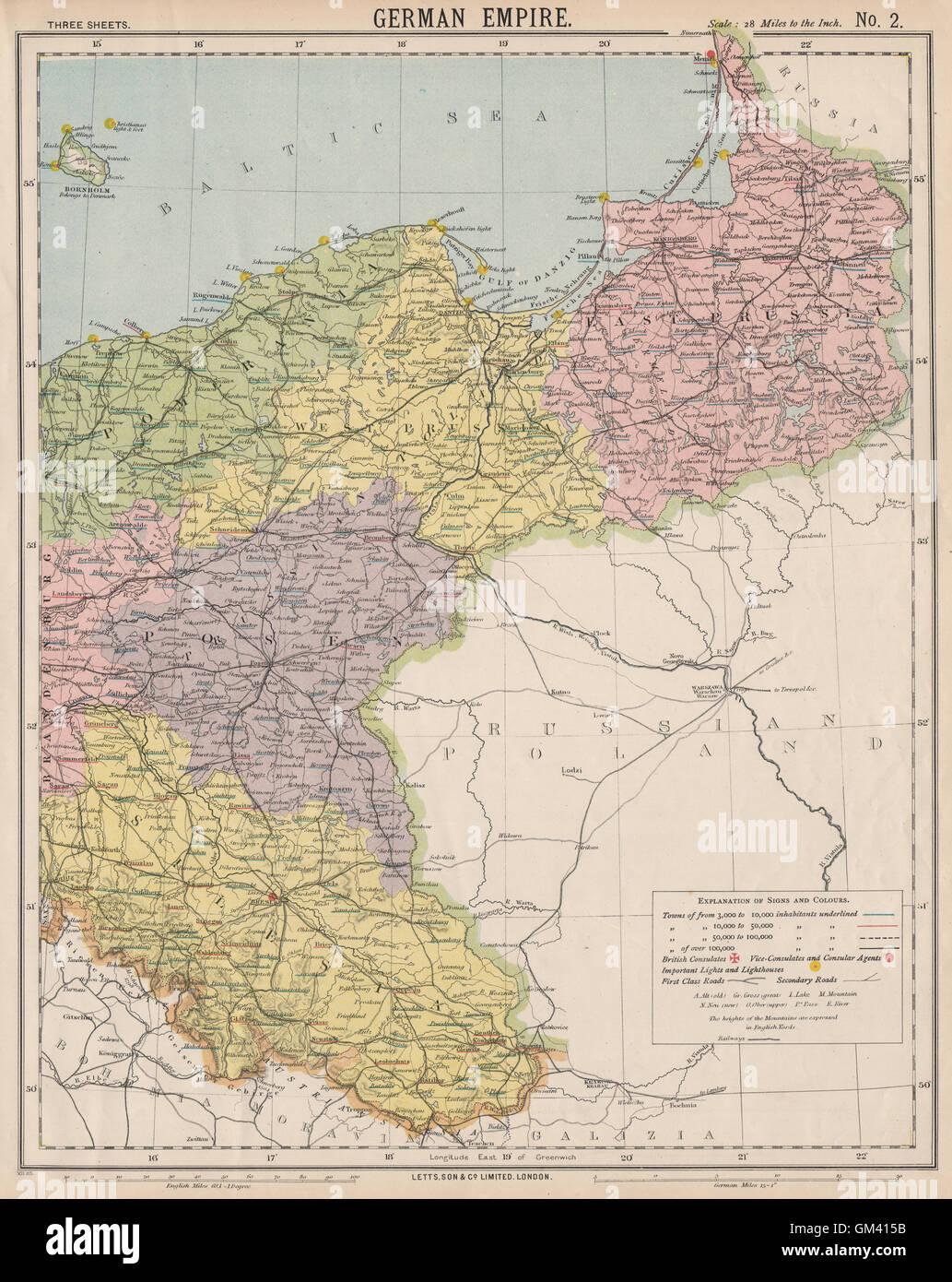 Polen Schlesien Karte.Osten Deutsches Reich Preußen Polen Posen Schlesien Pommern Letts