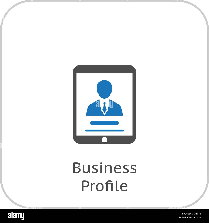 Business Profil-Icon. Business-Konzept. Flaches Design. Stock Vektor