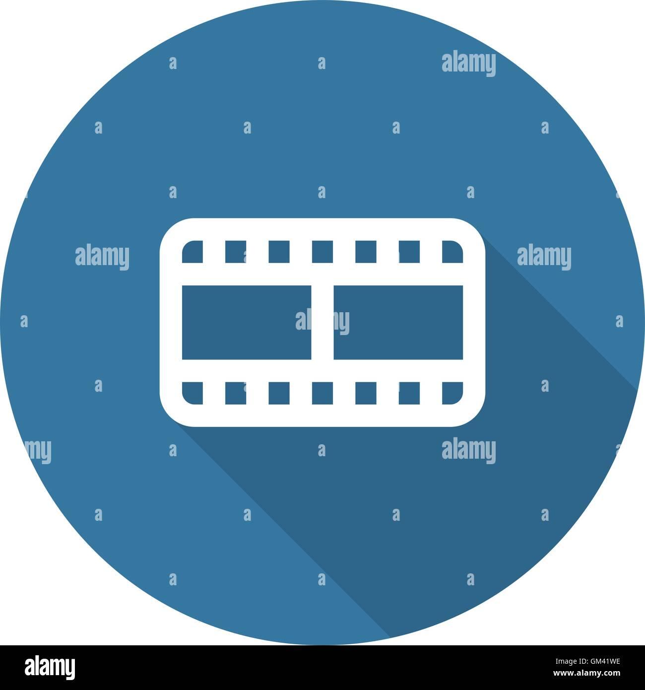 Video Zeichen Symbol. Video-Frame-Symbol. Flaches Design. Lange ...