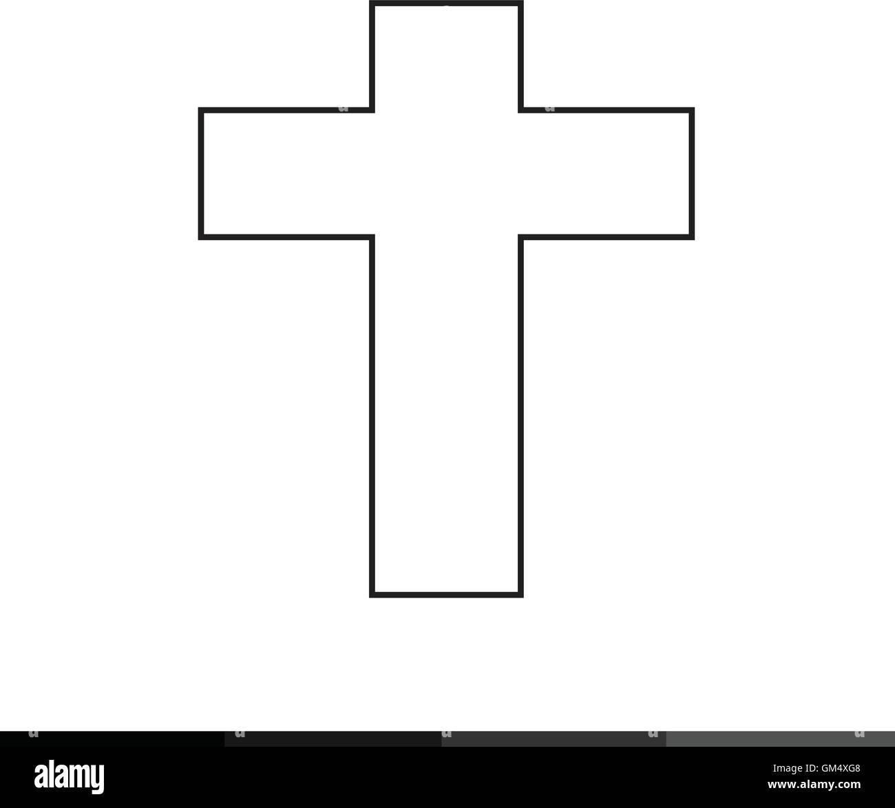 Kreuz Aus Bunten Christlichen Symbolen Vektor