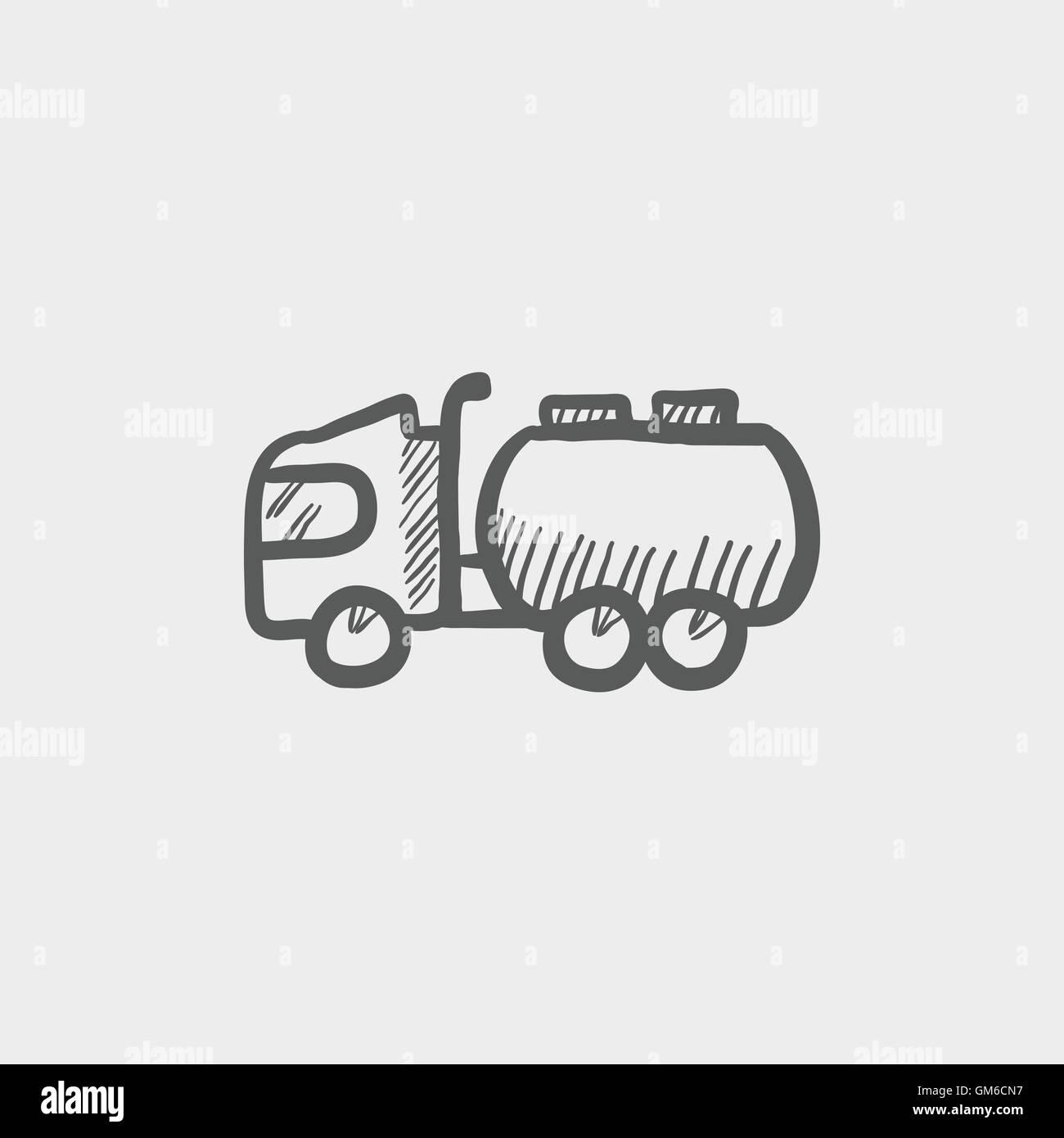 Tanker-LKW-Skizze-Symbol Vektor Abbildung - Bild: 115697043 - Alamy