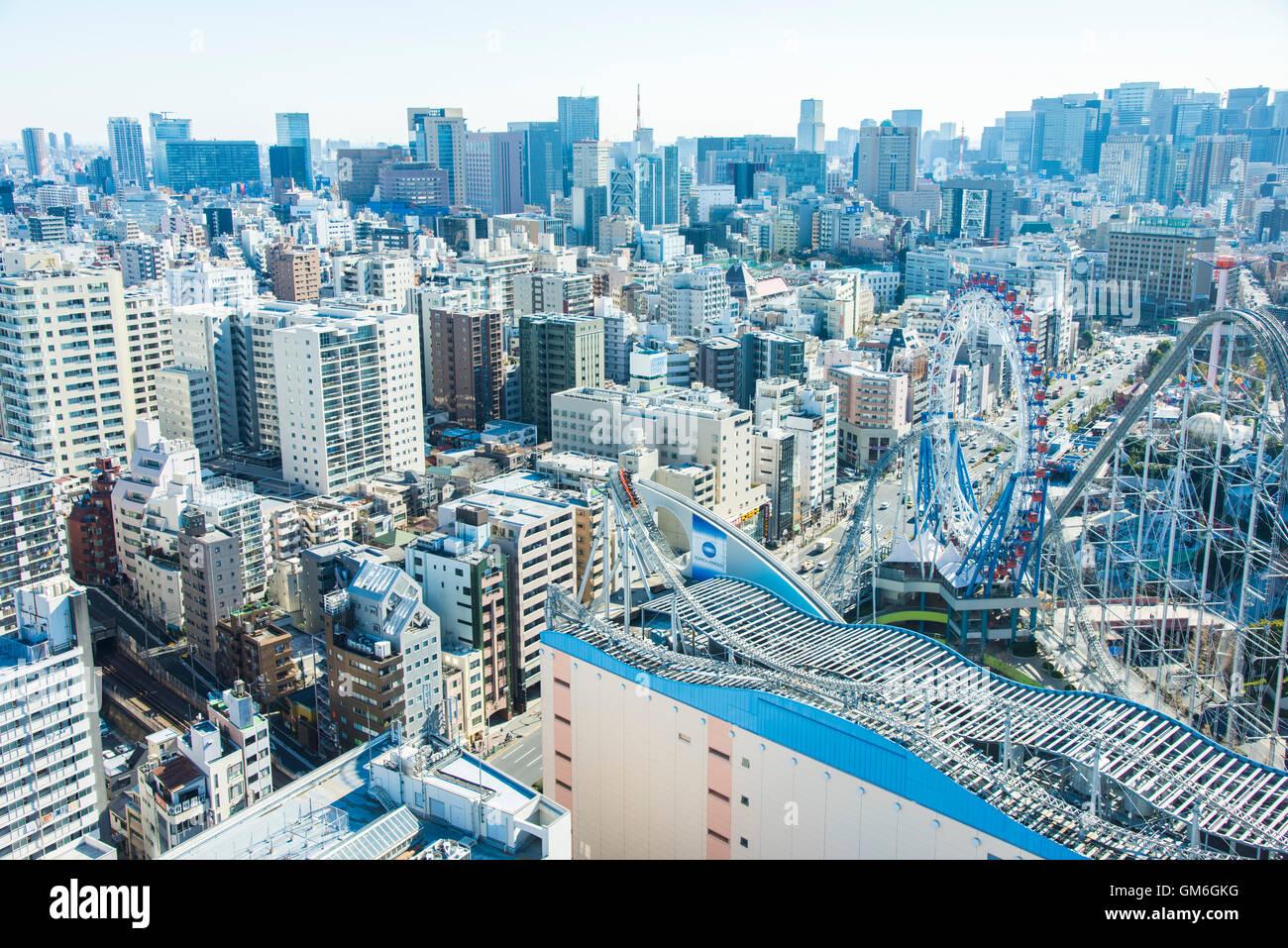 Tokyo Dome City Attraktionen, Bunkyo-Ku, Tokyo, Japan Stockbild