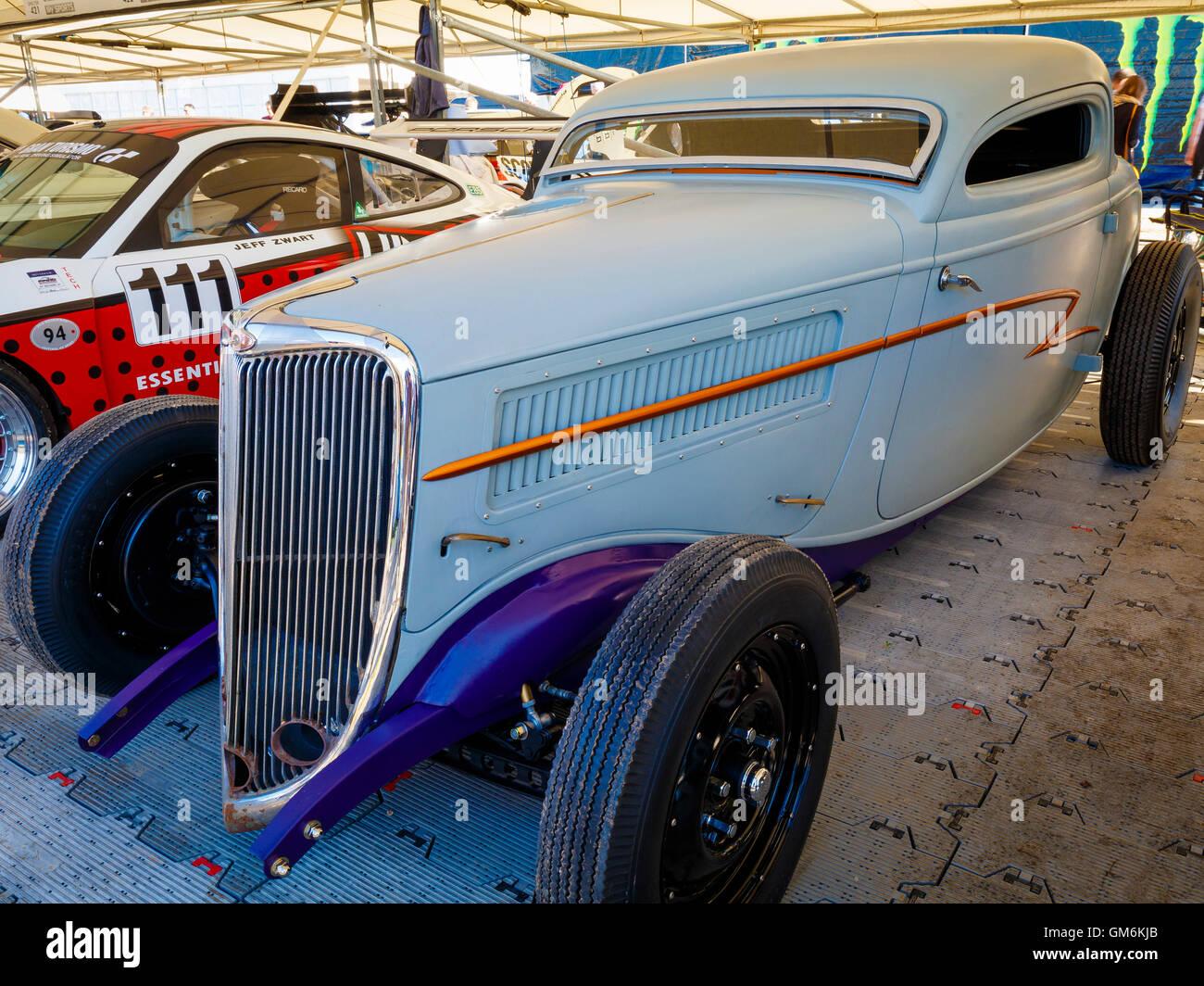 Maßgeschneiderte 1934 Ford Coupe Billy Gibbons Von Zz Top Auf Dem