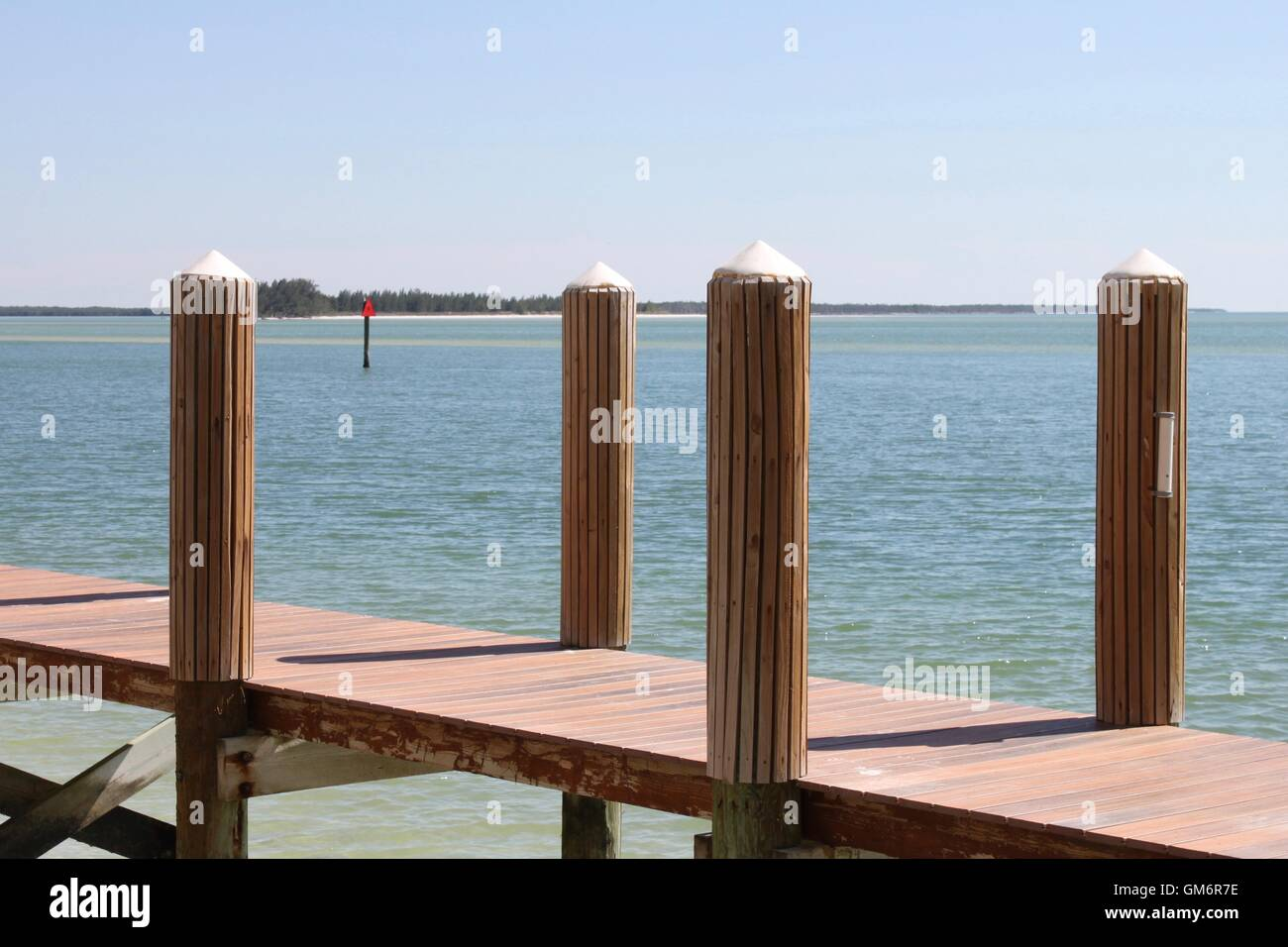 Andocken von Marco Island Stockbild