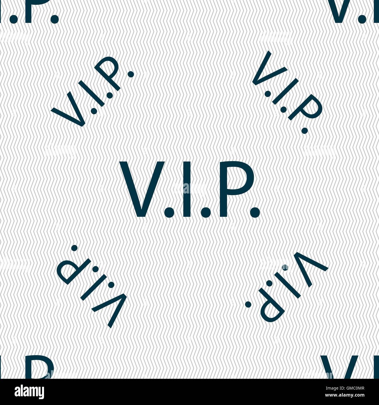 VIP-Zeichen Symbol. Mitgliedschaft-Symbol. Sehr wichtige Person ...