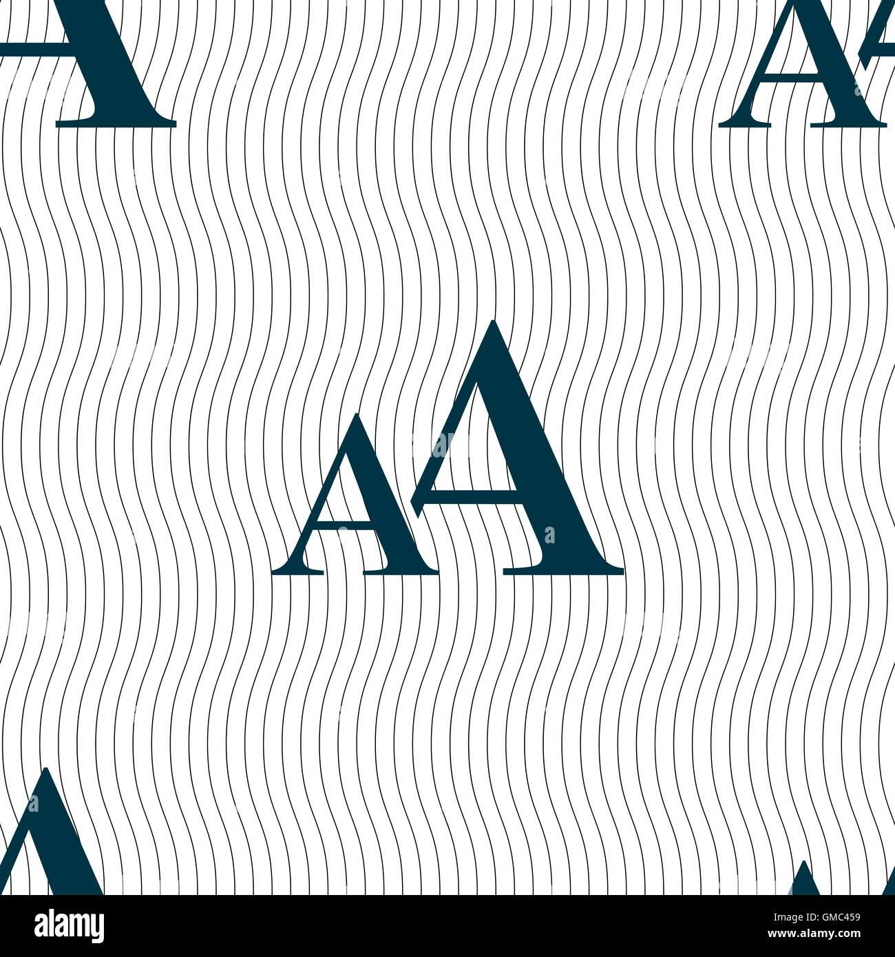 Vergrößern Sie Die Schriftart Aa Symbol Zeichen Nahtlose Muster