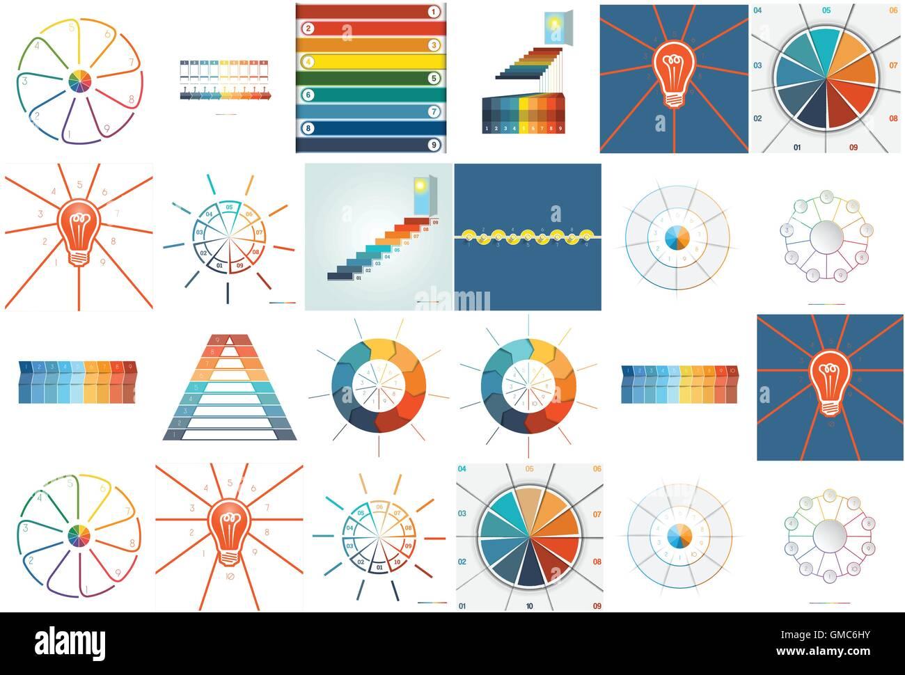 Nummer 24 Vorlagen Infografiken mit Textbereich neun und zehn ...