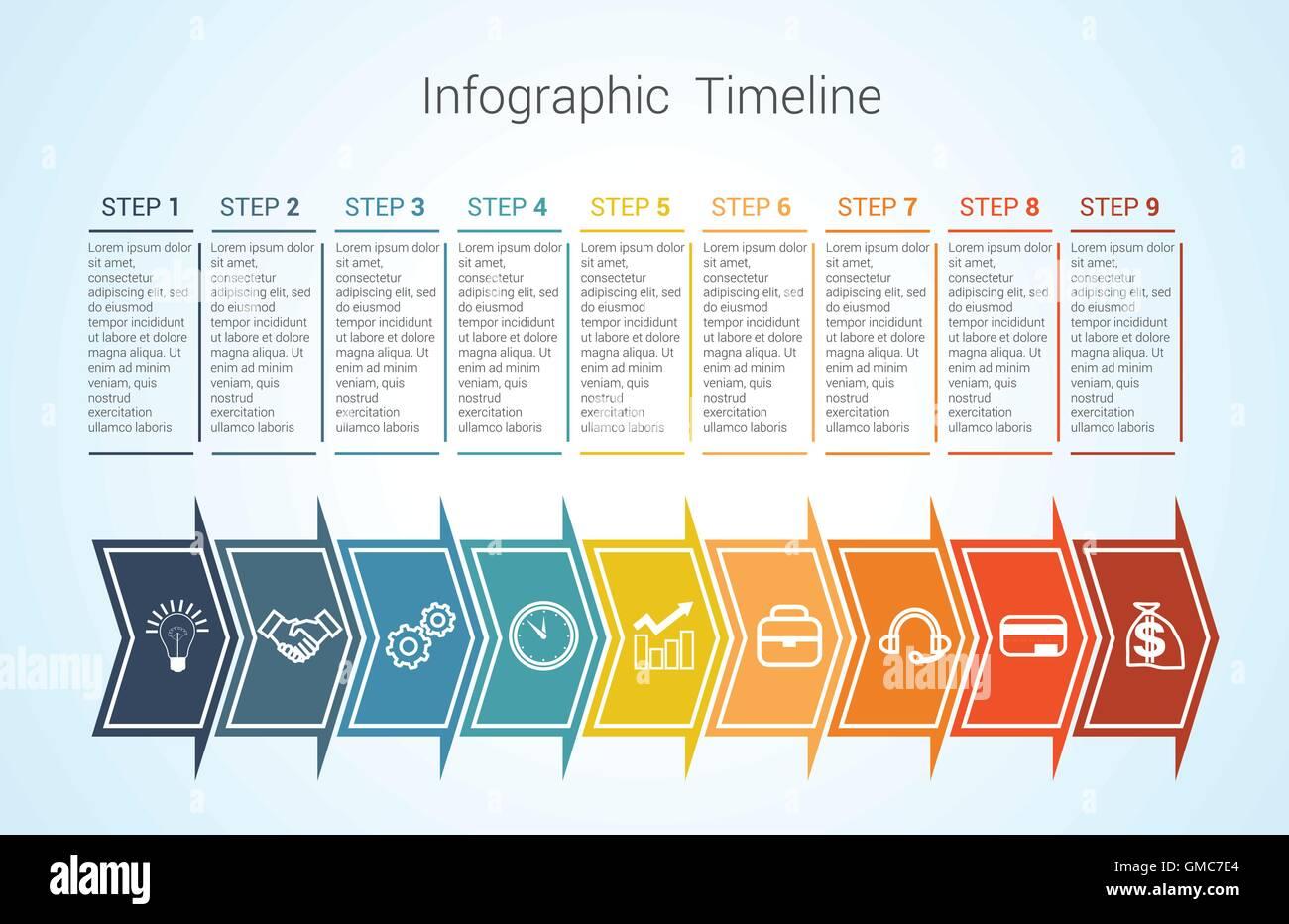 Berühmt Timeline Leere Vorlage Zeitgenössisch ...