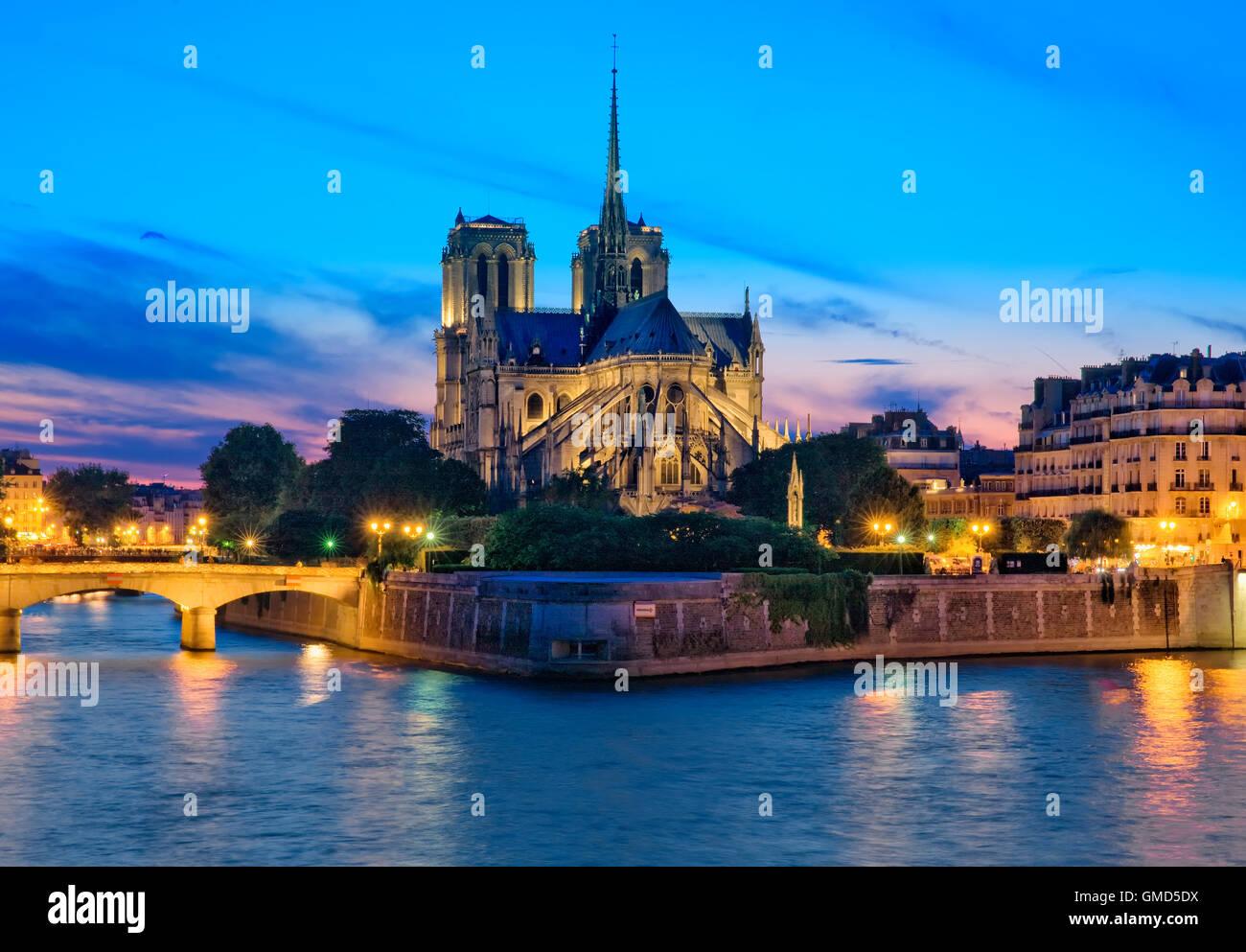 Die Kathedrale Notre Dame in Paris, Frankreich Stockbild
